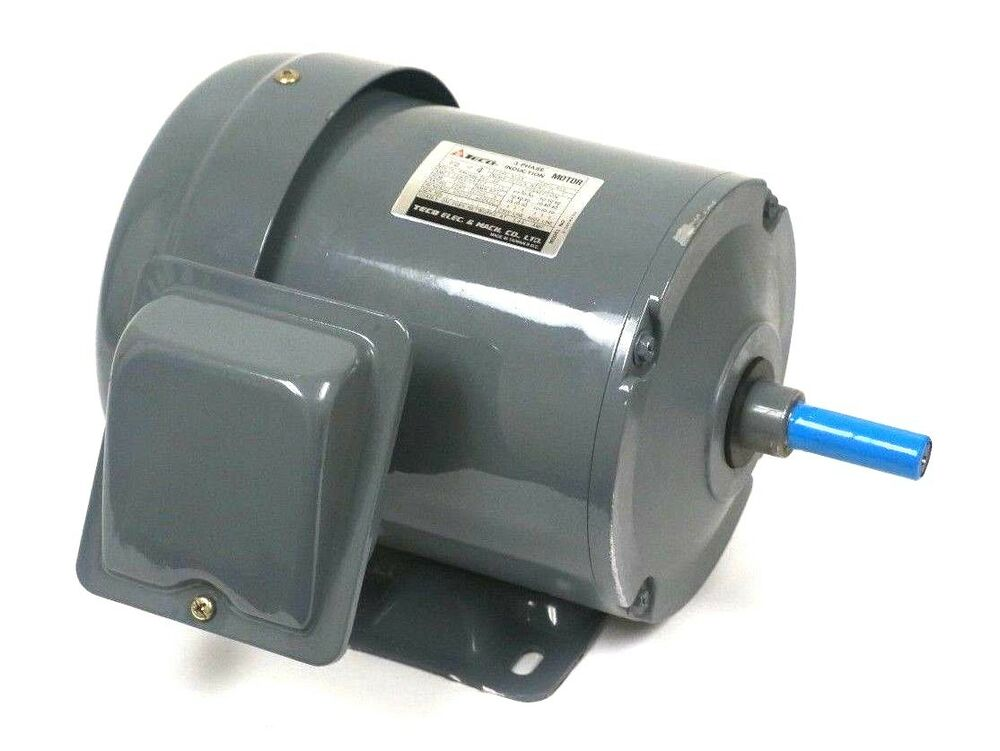 New teco electric 31045h200 3 phase induction motor 1 2hp for Used electric motor shop equipment for sale