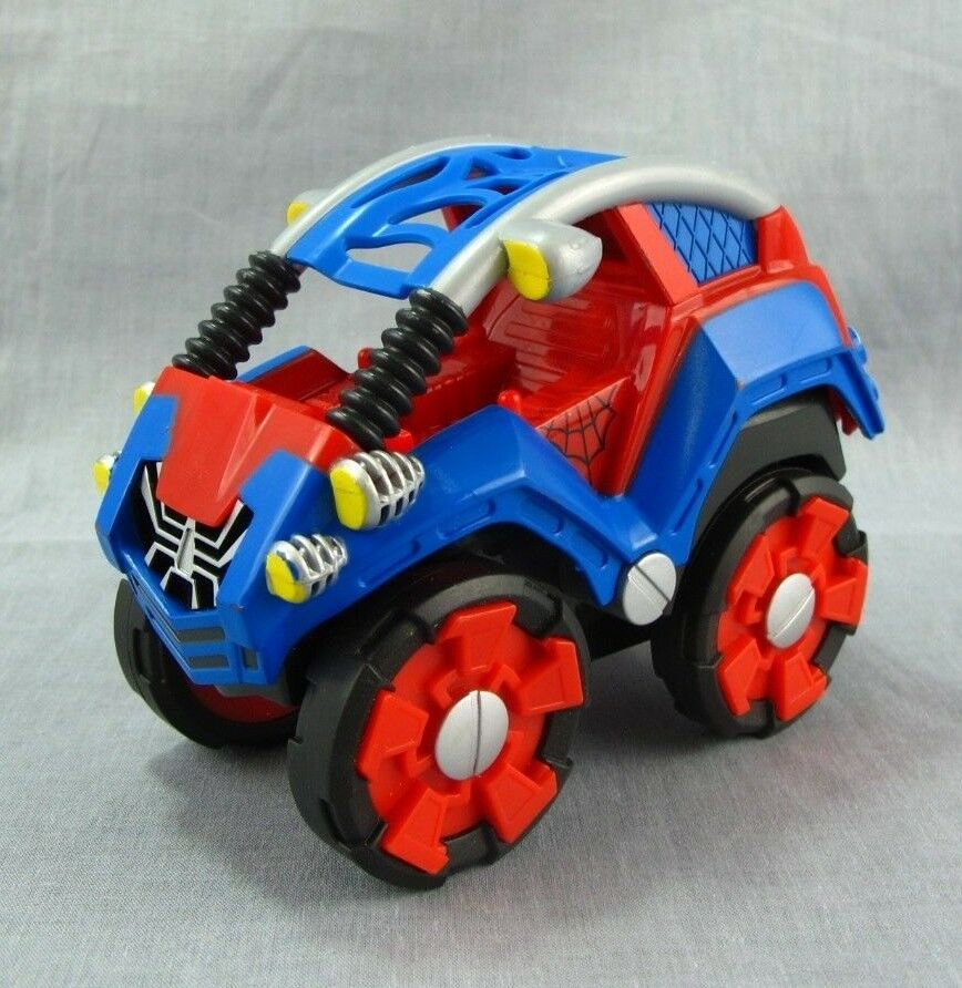 """Spider-Man Car Pull-Back Friction Toy Vehicles 5"""" Hasbro"""