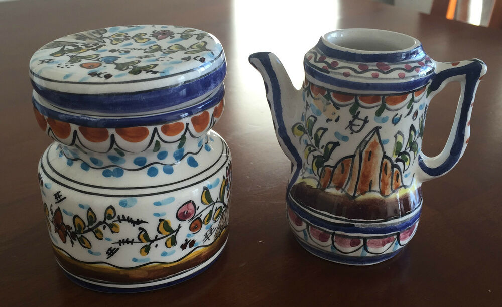 Http Www Ebay Com Itm Hand Painted Decorative Tea Set Scene From Portugal Vintage Home Kitchen Decor 191528028526