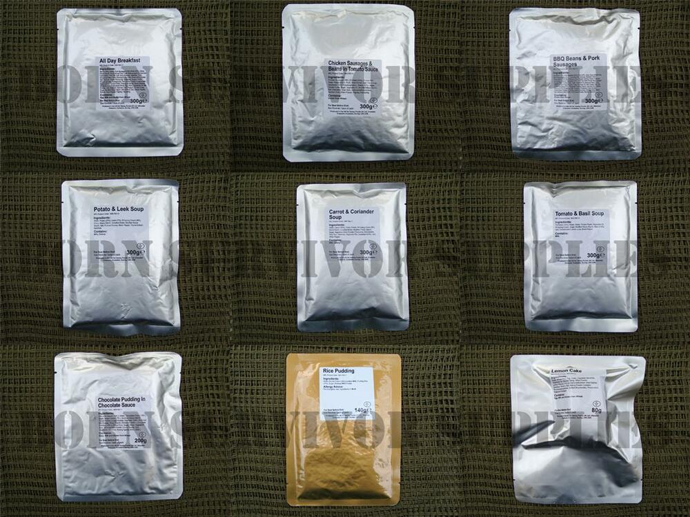 BRITISH ARMY MOD RATION PACKS Camping Ready Meals MRE Food