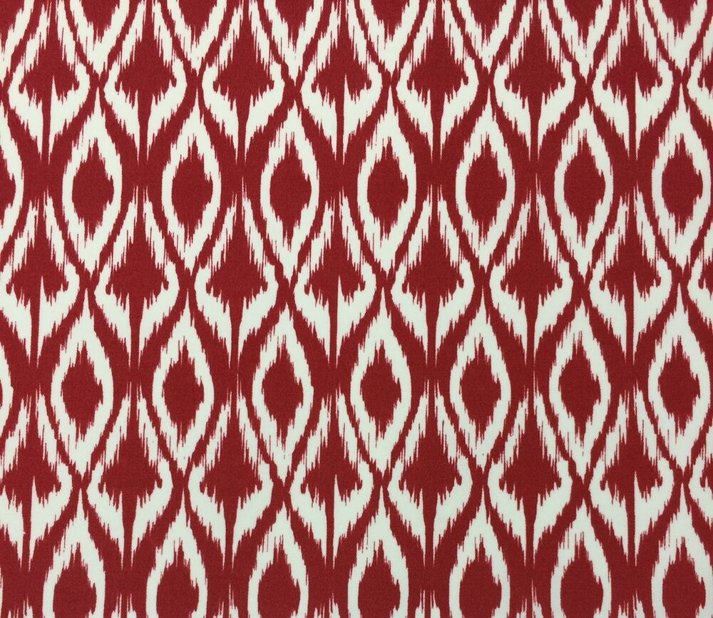 Richloom Ikat Red Geometric Outdoor Cushion Funriture