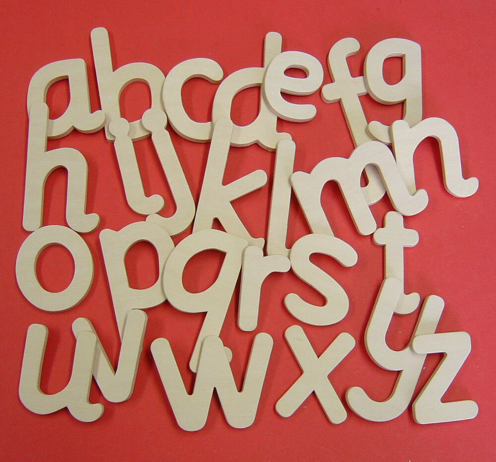 Lower case wooden letters full alphabet templates arts for Arts and craft letters