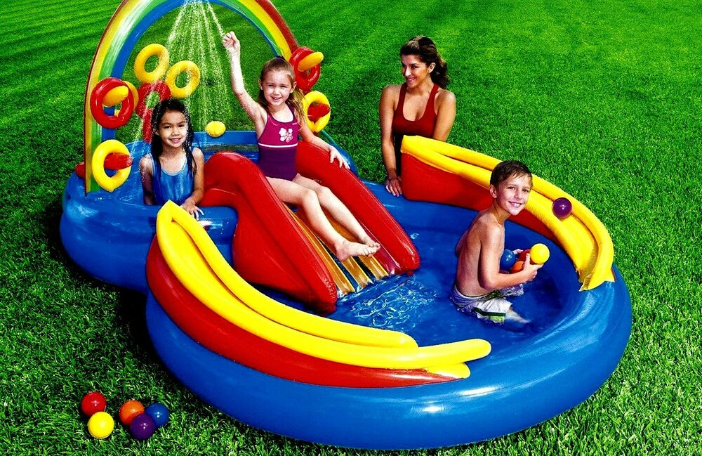 Inflatable Water Park Slide Pool Commercial Bounce House