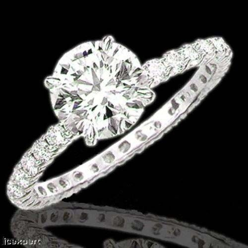 round brilliant cut diamond all around engagement ring. Black Bedroom Furniture Sets. Home Design Ideas