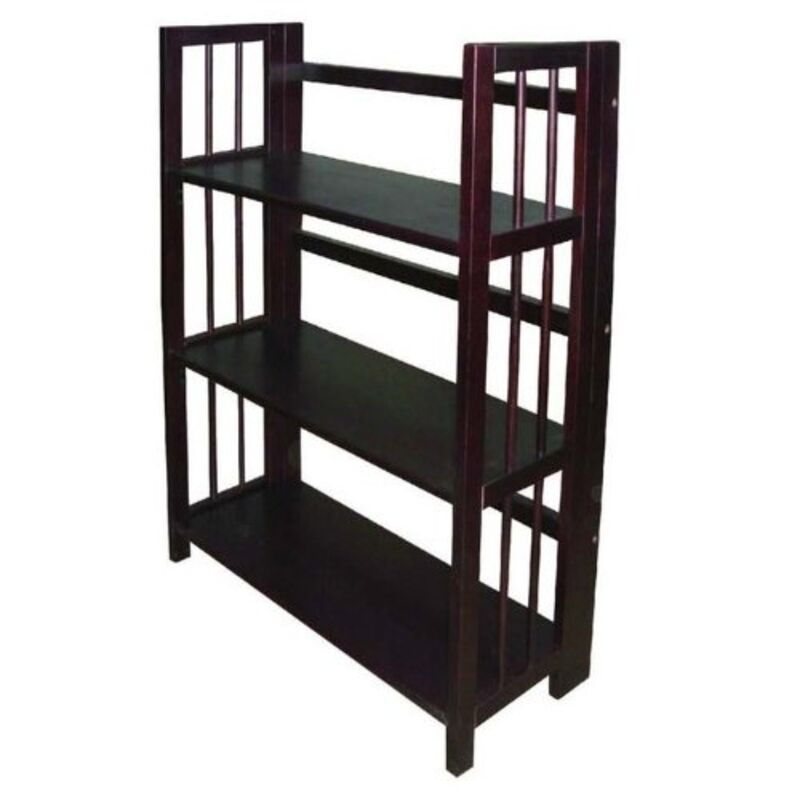 Yu shan 3 tier folding stackable bookcase 27 5 wide Folding bookshelf