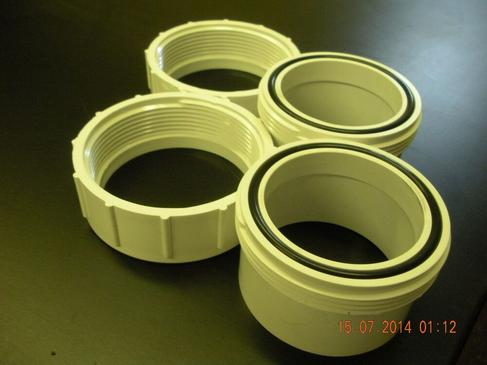 2 Quot Pvc Union Nut And Tail Piece With O Ring Two Pack Pool