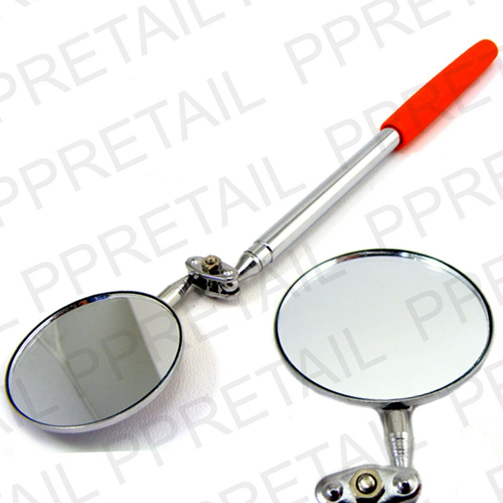 Large 5cm Telescopic Inspection Mirror Angle Swivel Arm