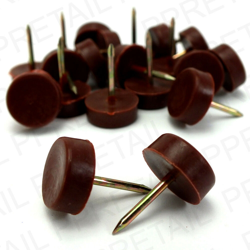 Set Of 20 Brown Furniture Glide Nails Knock In Table Chair