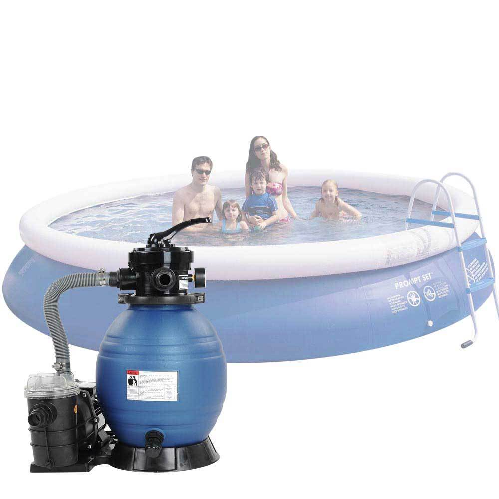 Above ground swimming pool 13 sand filter 3 4hp pump system intex pool 4valve ebay for Swimming pool pumps for above ground pools