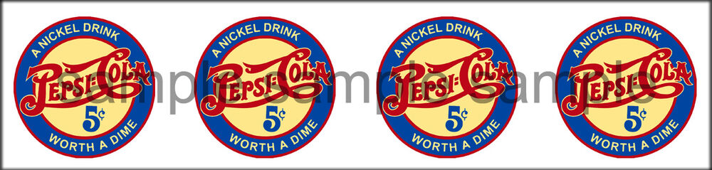 4 Pepsi Vintage Style Worth A Dime Decal 1 Quot Ebay