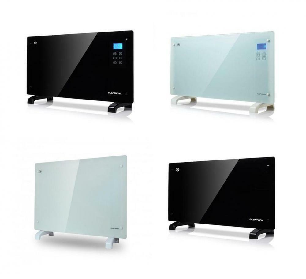Black White 2000w Free Standing Wall Mounting Touch Glass