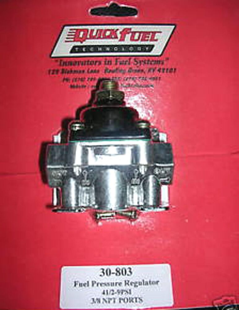 holley fuel pressure regulator 12 803 instructions