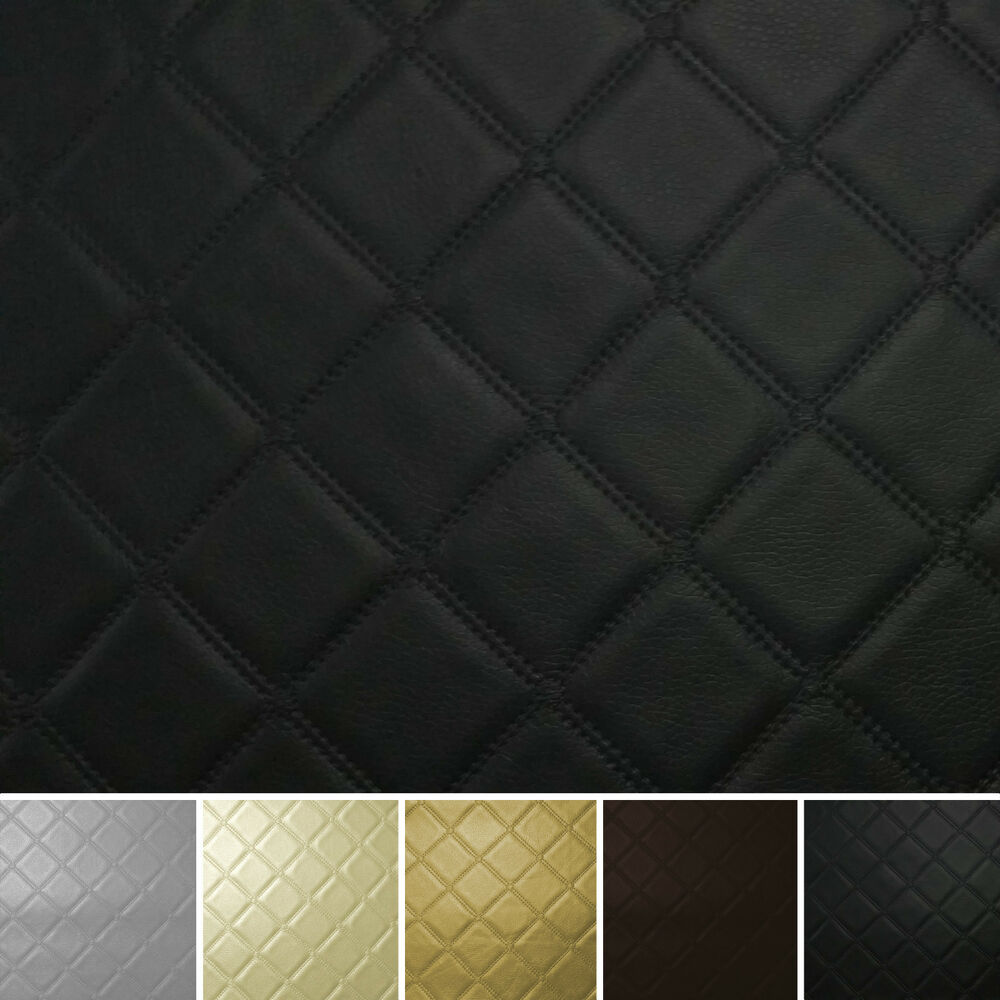 diamond stitch embossed vinyl faux leather car upholstery camper boat fabric ebay. Black Bedroom Furniture Sets. Home Design Ideas