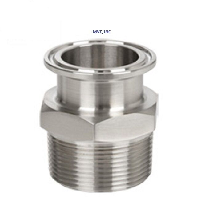 Sanitary ″ npt male adapter s clamp end dairy