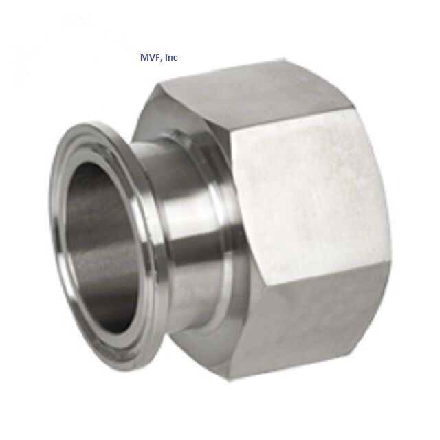 Sanitary ″ npt female adapter s clamp end dairy