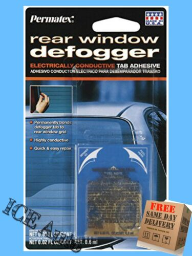 2 PACK Permatex 21351 Electrically Conductive Rear Window Defogger Tab Adhesive