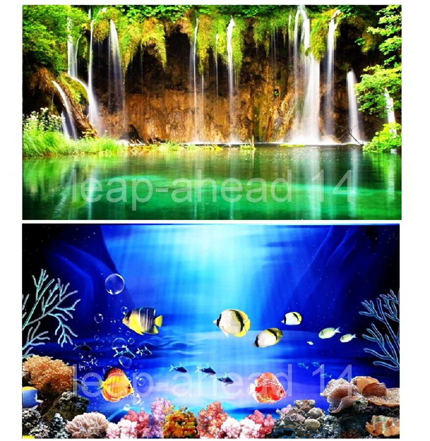 Aquarium fish tank background h 12 picture 2 sided image for Aquarium background decoration