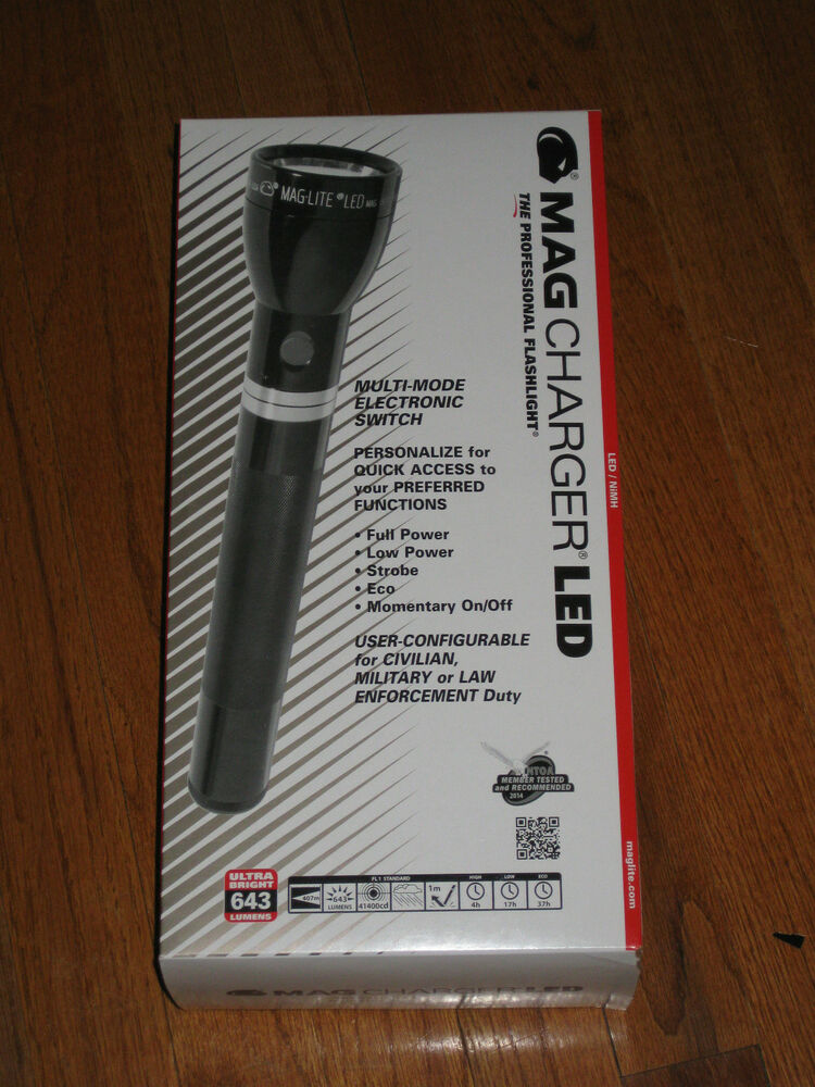 Police Maglite Mag Charger Led Rechargeable Flashlight Kit