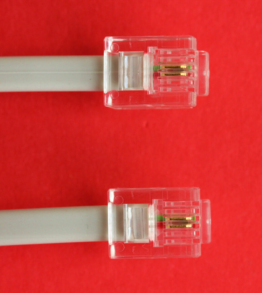 Rj11 to rj11 12m adsl 2 wire broadband cable grey for router to adsl filter ebay - Cable adsl rj11 ...