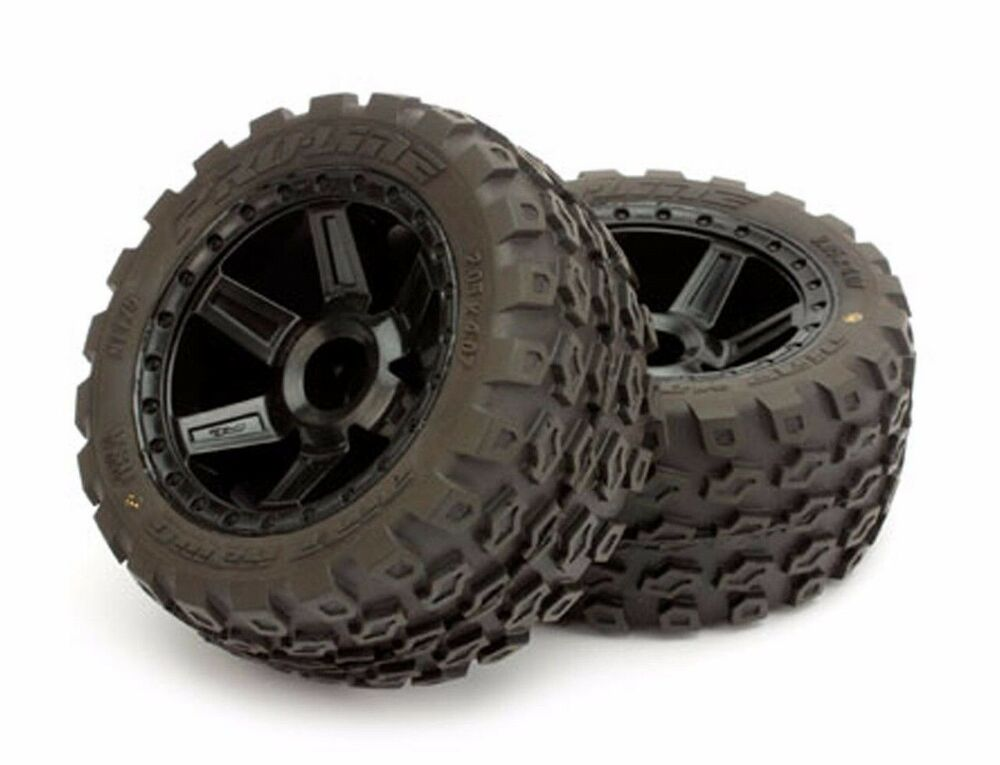 "Pro-Line Mounted 2.8"" Dirt Hawg Tires/Wheels F&Rear Nitro ..."