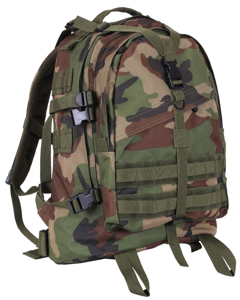 Woodland Camouflage Large Transport Pack Backpack Camo 19 Quot Molle Tactical Bag Ebay