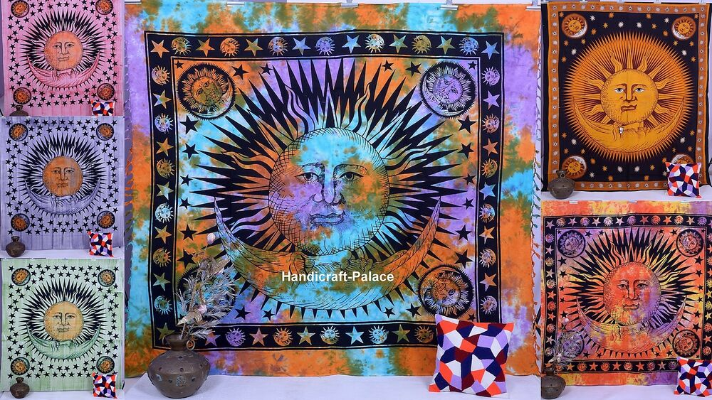 Psychedelic Wall Hanging Indian Tapestries Hippie Tapestry ...