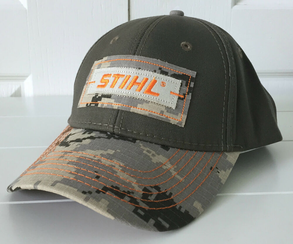 stihl digital camo hat cap w cool patch logo ebay
