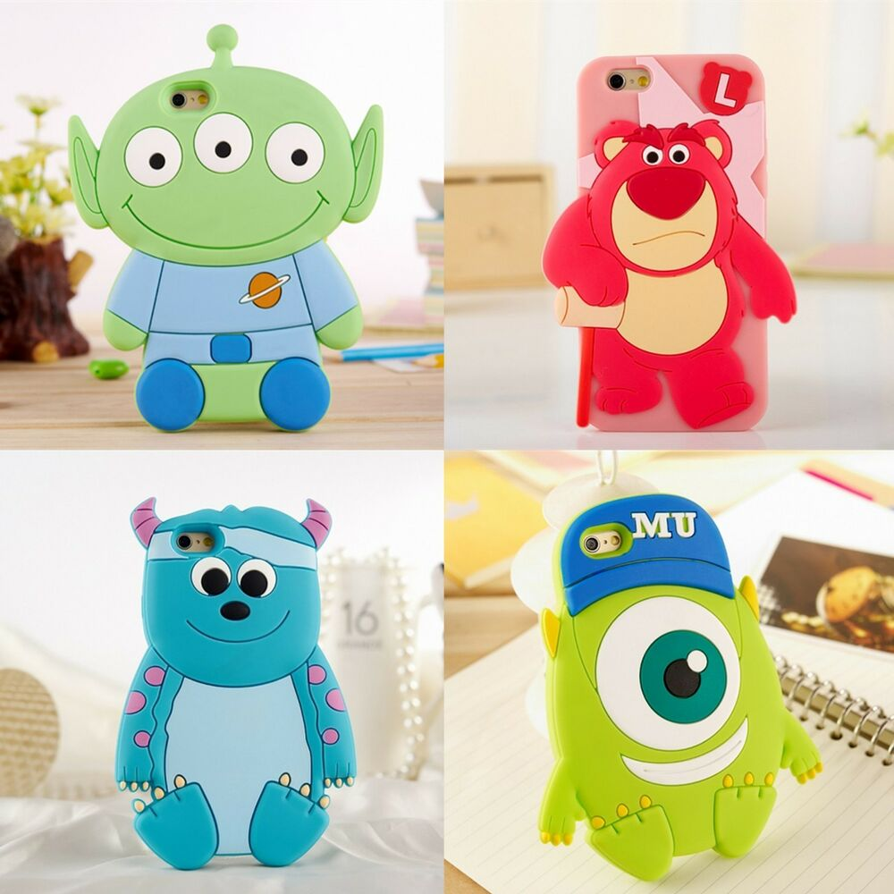 3D Cartoon cute Disney mike SULLEY SILICONE soft case ...