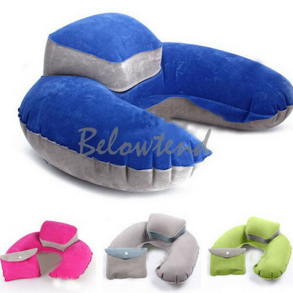 U Shape Pillow Inflatable Neck Head Rest Relaxing Support