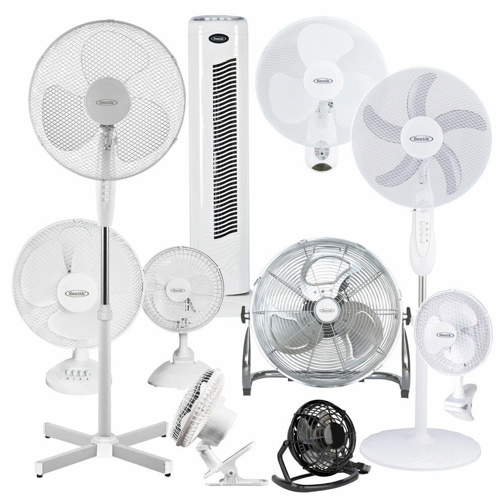Home Fans On A Stand : Quot pedestal oscillating stand fan desk fans electric
