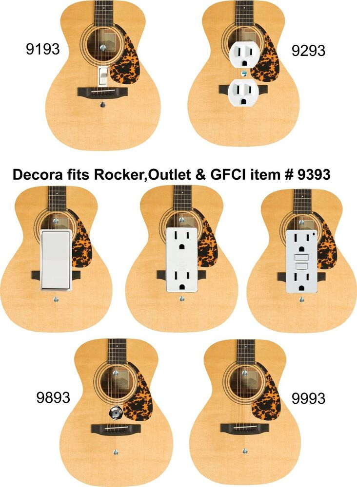 Coloriffic Acoustic Guitar shape wall plate Light Switch Outlet ...