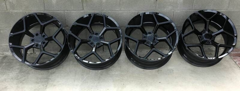 Camaro Z28 5th Gen Gloss Black 20 Quot 20x10 20x11 Wheels Rims