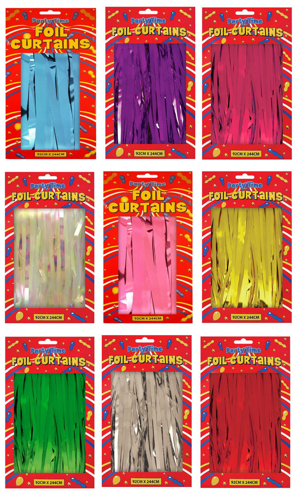 Foil Party Door Curtain Tinsel Shimmer Birthday Wedding Decorations ...