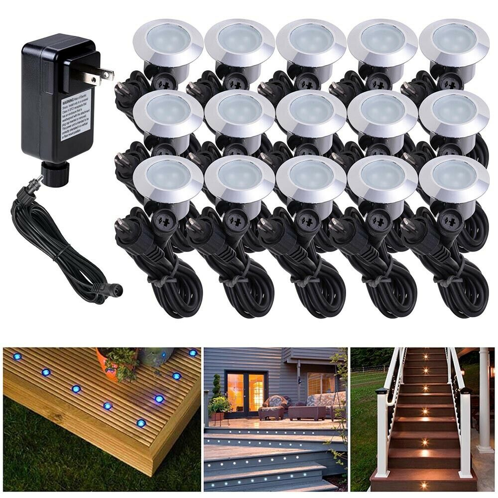 15pcs LED Bulbs Deck Light Garden Stair Yard Mall Outdoor