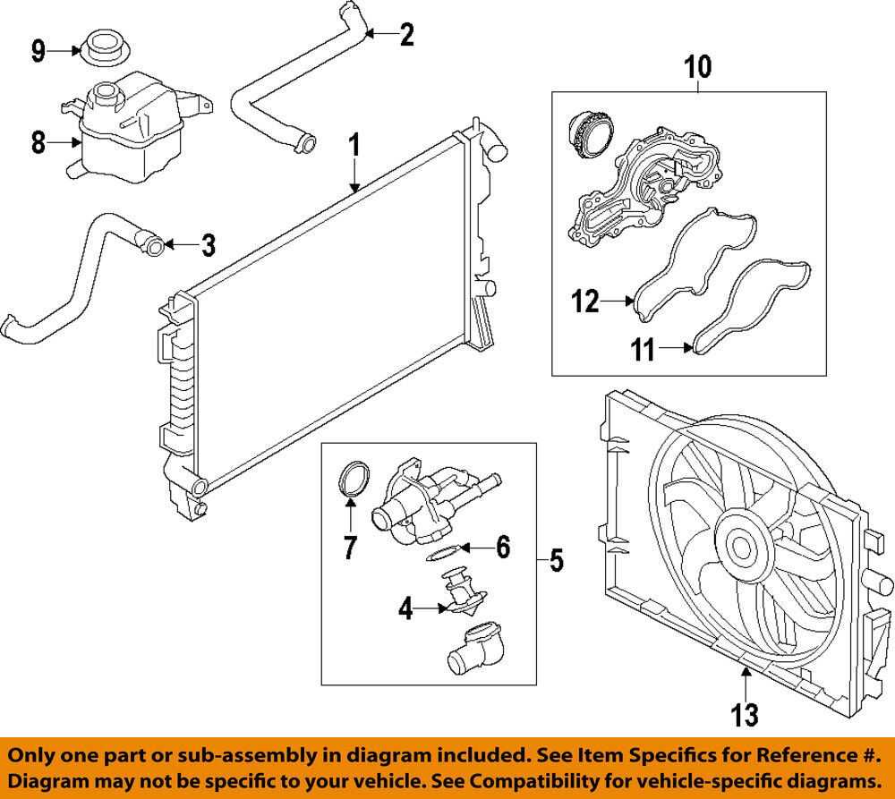 2008 Ford Taurus X Camshaft: FORD OEM-Engine Coolant Thermostat 1X4Z8575A