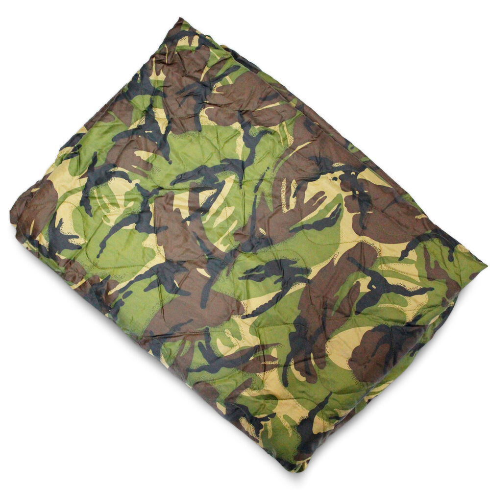 Army GI Rip-Stop Poncho Liner Packable Quilted Picnic
