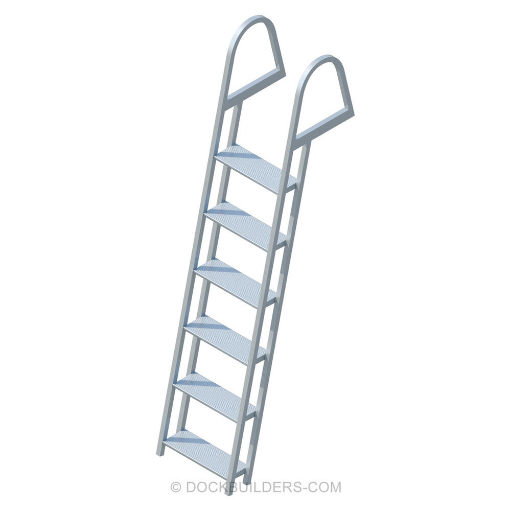 6 Step Angled Stationary Dock Ladder With 5 Quot Extra Wide