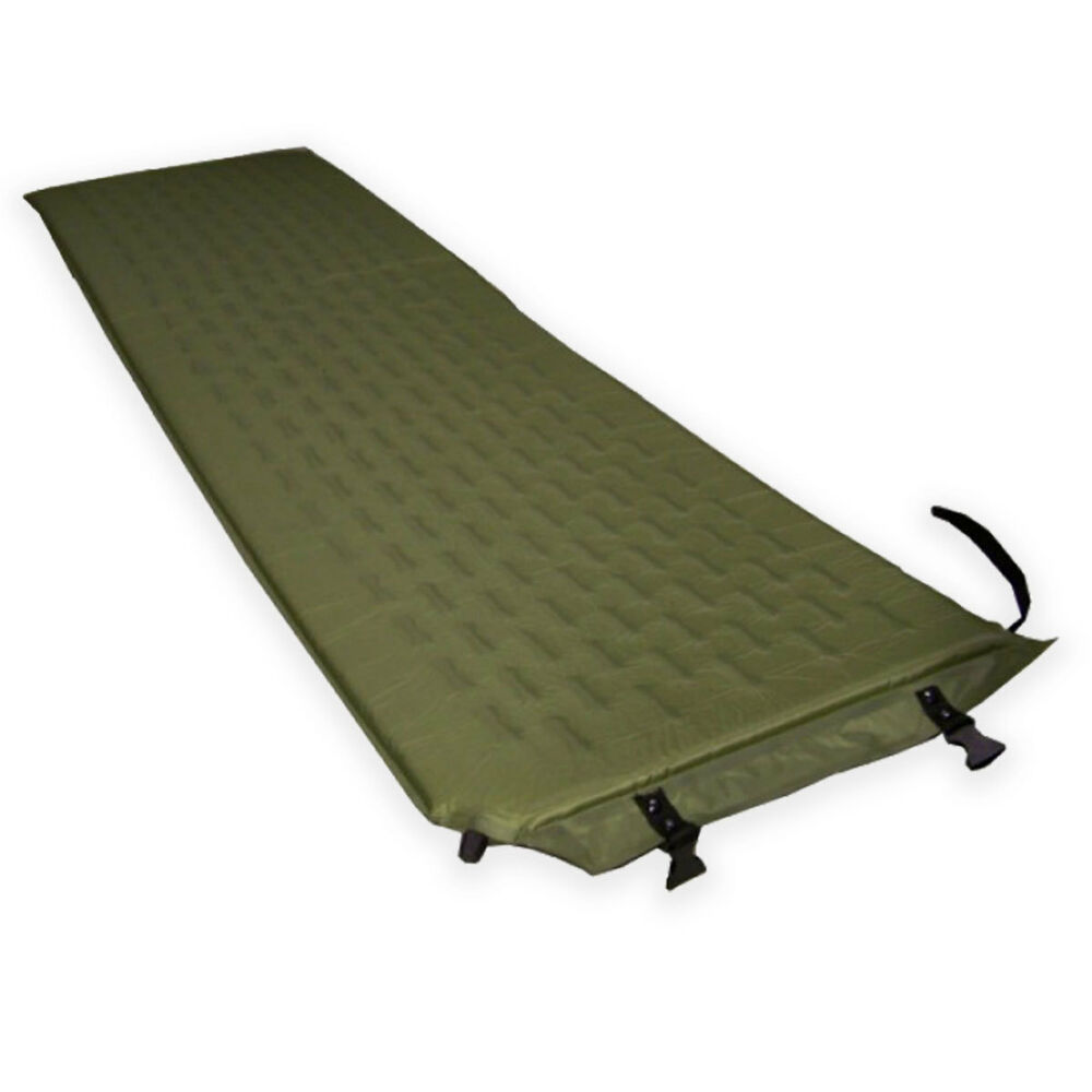 Self inflating military camping single camp bed sleeping - Matelas gonflable ez bed ...