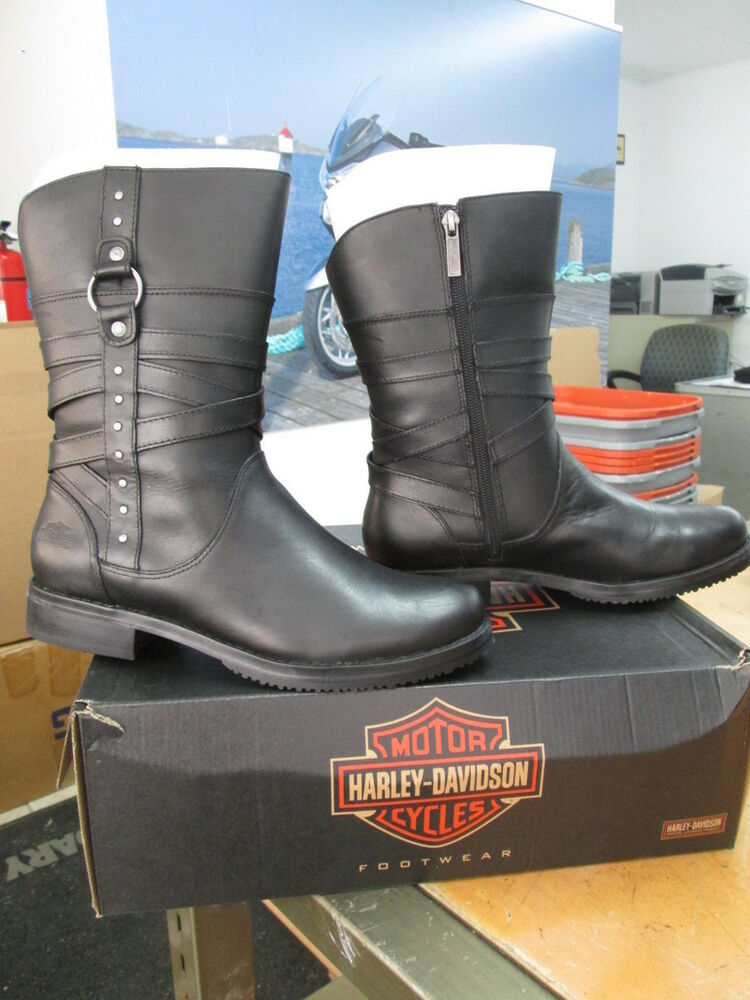 new harley davidson womens leather boot boots shoes medium