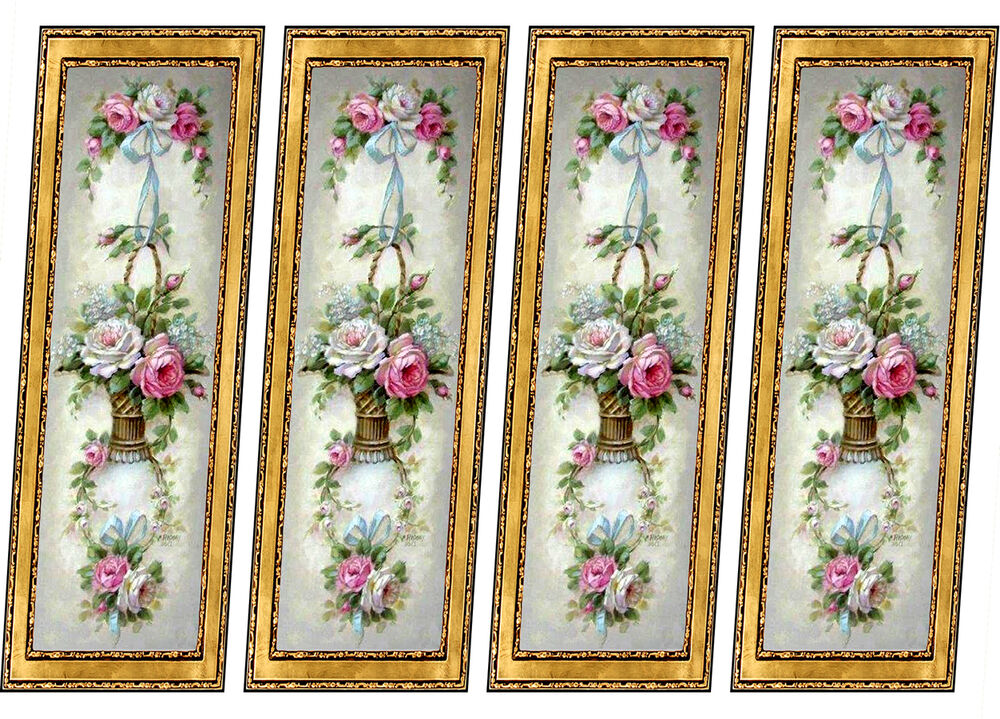 Dolls House Victorian Wall Panels 8 Panels Mural 1 12th