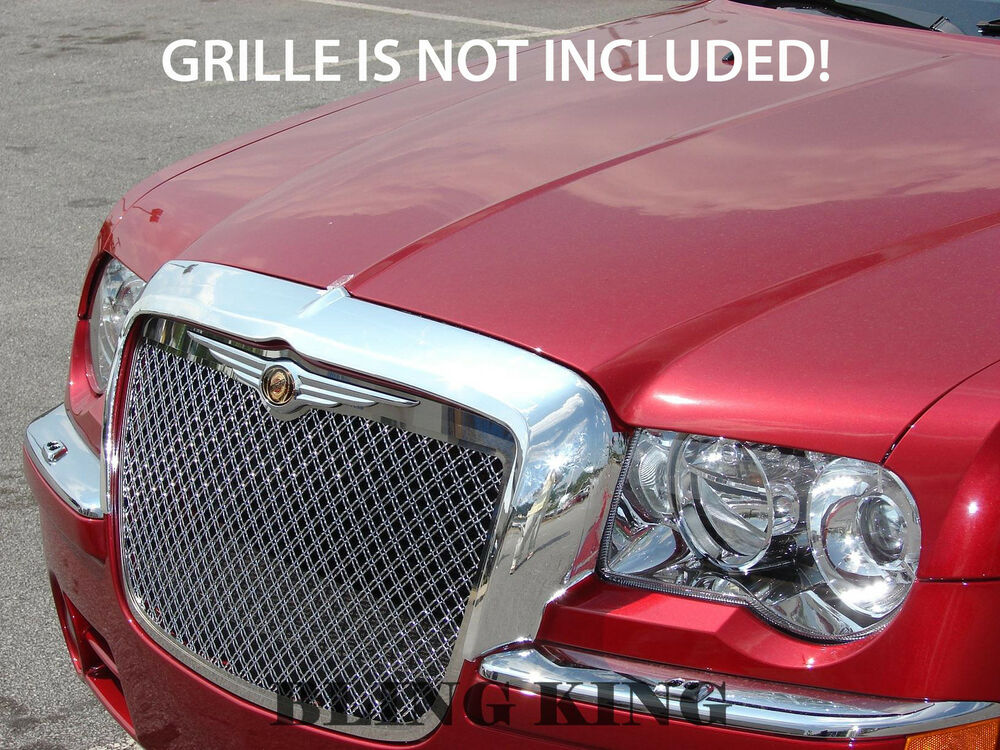 Chrysler 300c Chrome Grille Grill Mustache Cover 05 10 Ebay