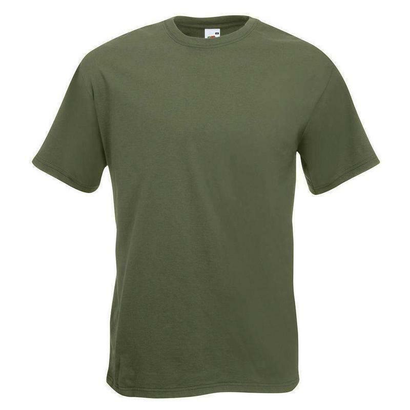 Details about Mens Womens Military Army Cadet Cotton Plain T-Shirt Olive  Green OD Drab S - XXL c3d37b3f144