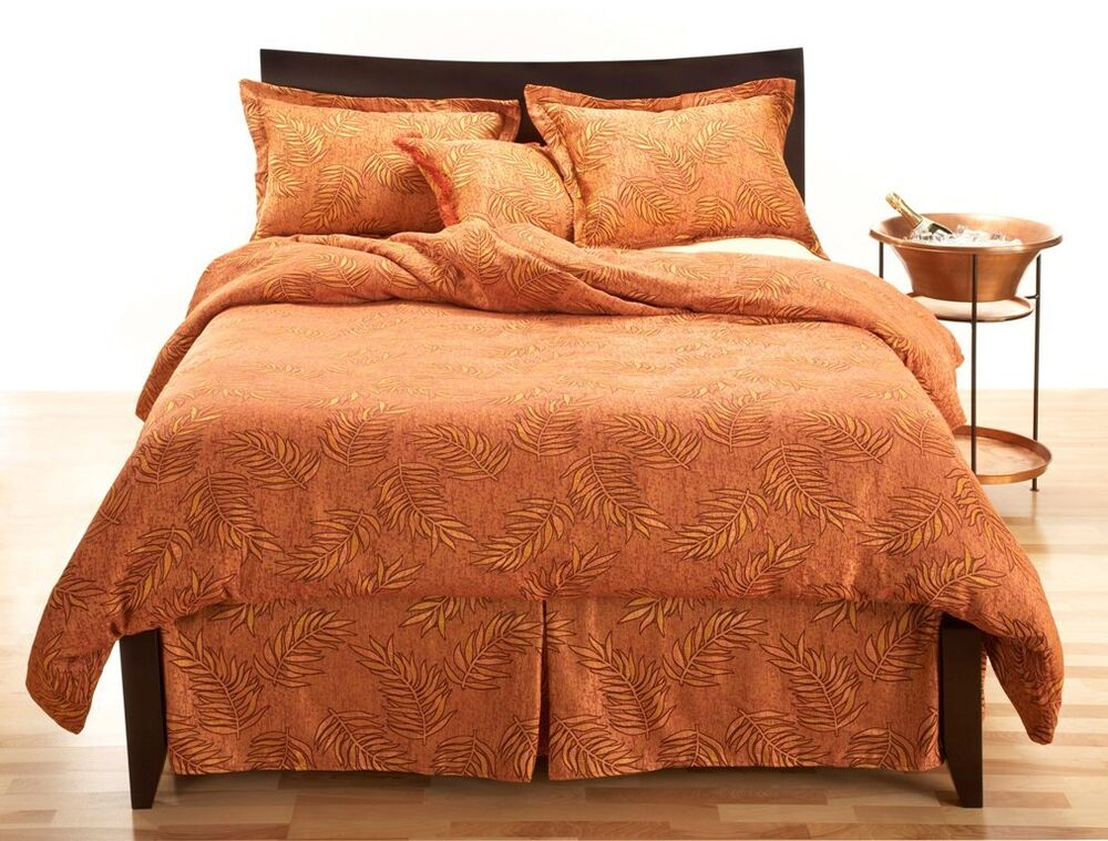 4 piece sunset beach twin size duvet cover set ebay. Black Bedroom Furniture Sets. Home Design Ideas