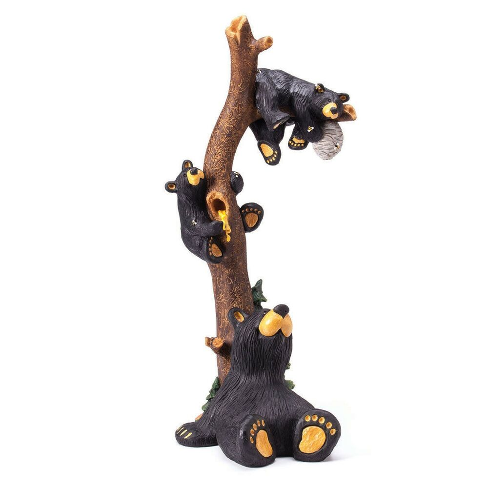 Big sky carvers bearfoots grand black bear honey tree by