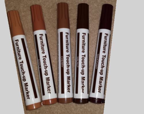Set Of 5 Furniture Repair Pens Markers Touch Up Wood