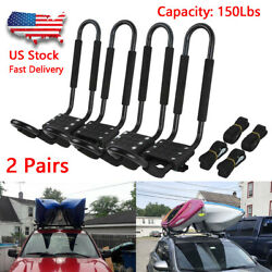 Kyпить 2 Pairs Kayak Carrier Boat Ski Surf Snowboard Roof Mount Car Cross J-Bar Rack на еВаy.соm