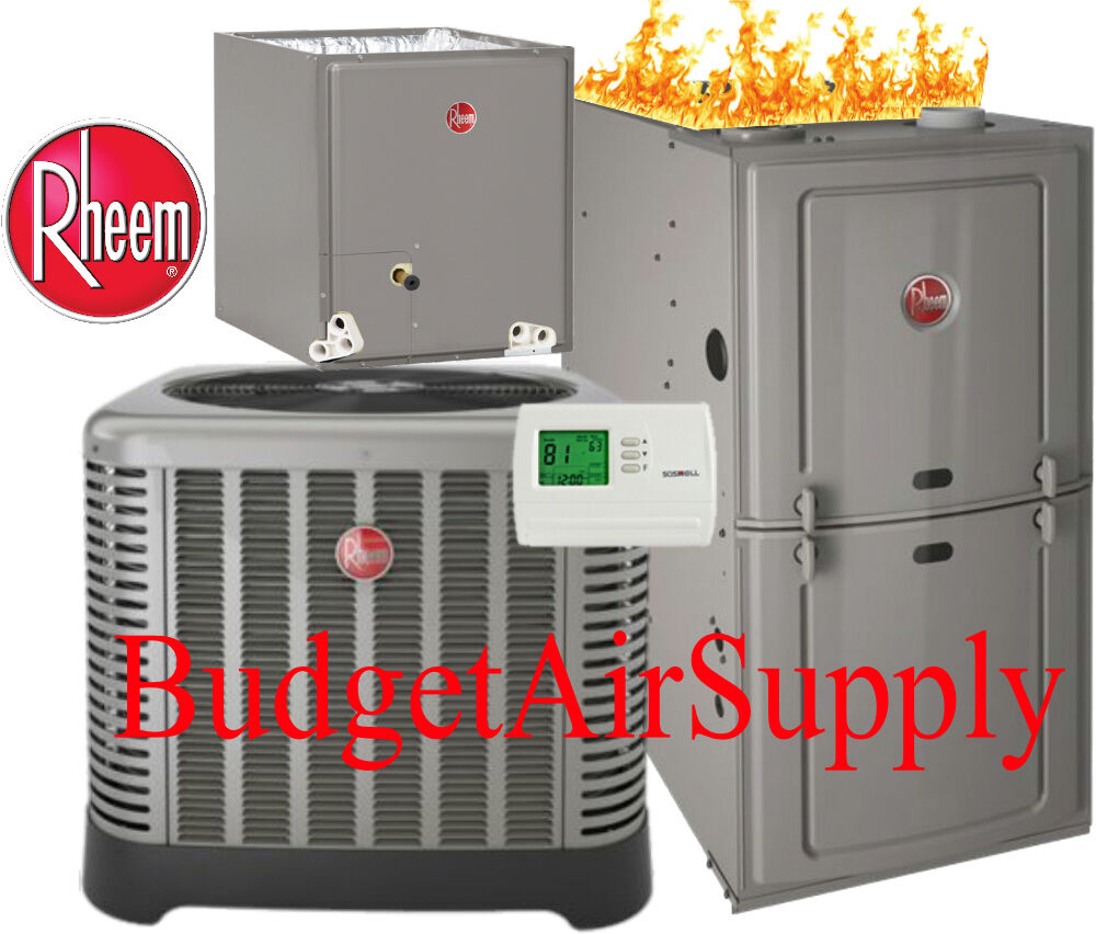 Gas Heating Systems : Ton seer rheem ruud k btu gas furnace system