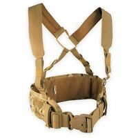 Bulldog Military Army LIMB MOLLE Airborne Webbing Belt Kit with Suspenders MTP