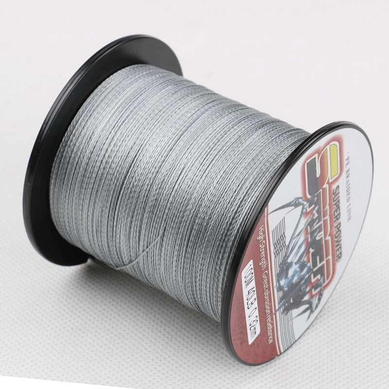 Spectra braided fishing line 100m 1500m 6 300lb 100 pe for Black braided fishing line