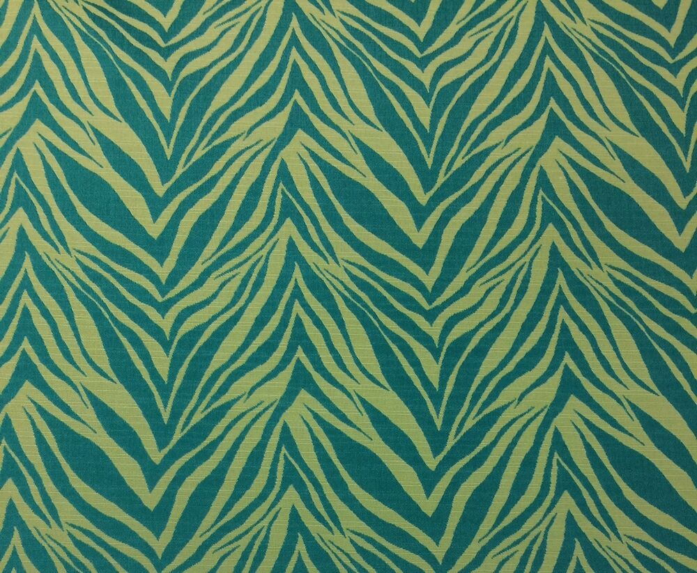 Outdura crazy horse jade green zebra outdoor indoor for Outdoor fabric by the yard